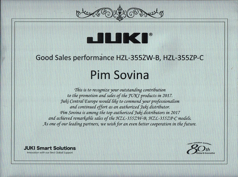 יוקי ישראל מצטייני מכירות JUKI 2017