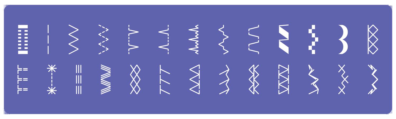 סוגי תפרים HZL-355W-B
